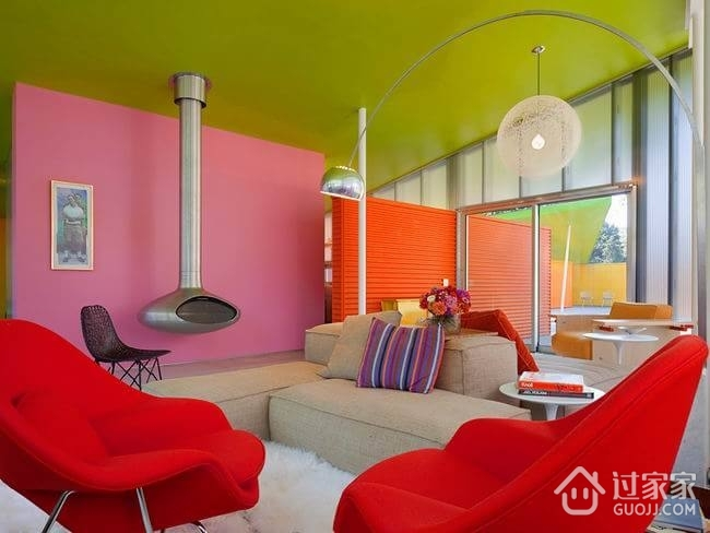色彩丰富混搭小屋欣赏