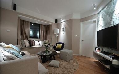 72平简约两居室住宅欣赏客厅飘窗