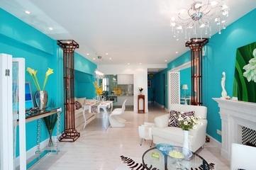 蓝色海湾现代住宅欣赏客厅