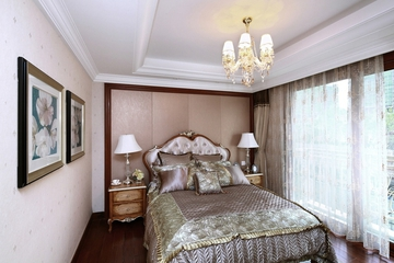 87平贵气美式三居室欣赏卧室窗帘