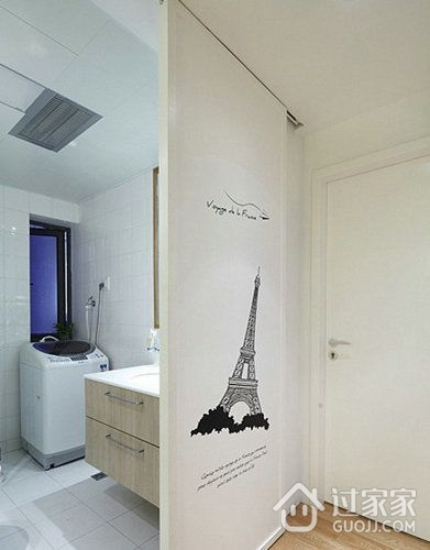 82平现代婚房两居室欣赏卫生间隔断