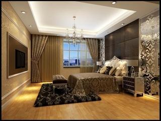 122平欧式奢华大宅欣赏卧室