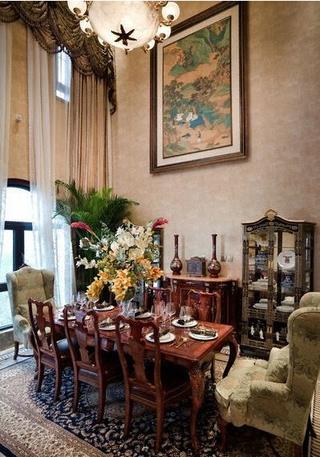 226平欧式古典住宅欣赏餐厅