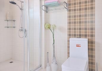 118平白色简欧住宅欣赏卫生间吊顶