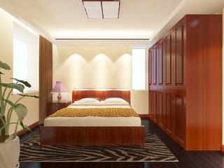 简单家居 简约卧室衣柜设计效果图