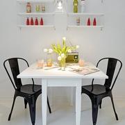 白色欧式风餐桌效果图