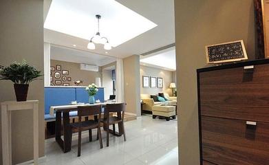 70平简约新房两居室欣赏餐厅餐桌