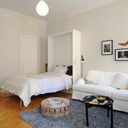 现代创意公寓卧室全景