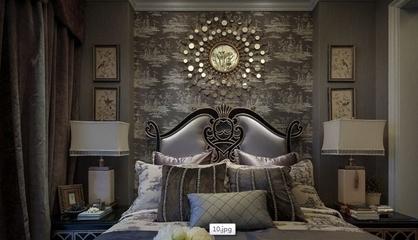 白色尊贵欧式住宅欣赏卧室局部