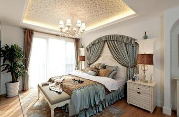 蓝白地中海住宅欣赏卧室效果