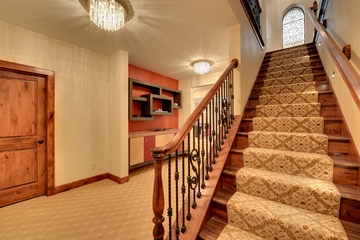 美式别墅设计效果套图过道效果