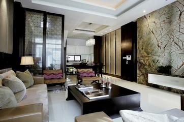 新中式效果图住宅欣赏客厅效果