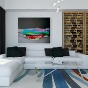 白色现代风格设计案例欣赏客厅设计