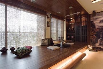 中式禅风两室一厅欣赏茶室设计