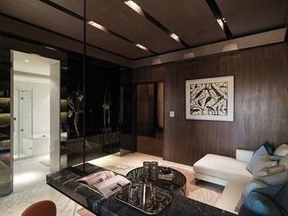 76平现代风两居室欣赏书房吊顶
