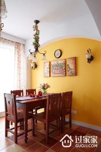唯美餐厅餐桌摆放图 个性美式风格家装