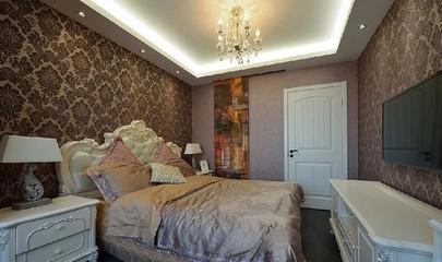 82平现代三居室温馨之家卧室背景墙