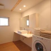 78平清爽日式风欣赏洗手间