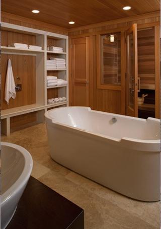 美式复式装饰效果图卫生间