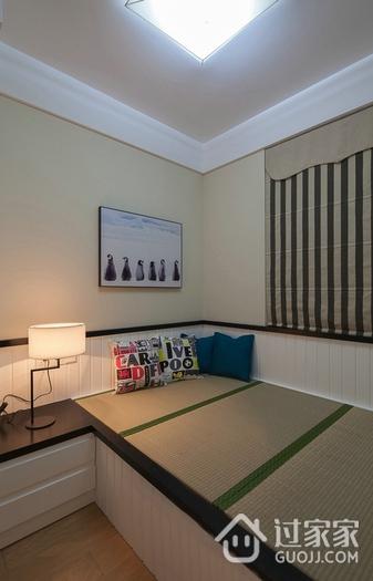 118平简约三居室案例欣赏卧室窗帘