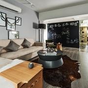 简约黑白原味空间设计沙发背景