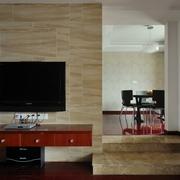 木质电视背景墙效果图