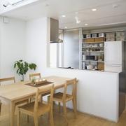 日式清爽复式楼欣赏餐厅效果