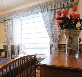 72平美式乡村两居室欣赏卧室飘窗
