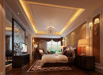 120平法式经典三居欣赏卧室效果