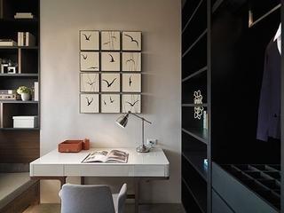 76平现代风两居室欣赏书房书架