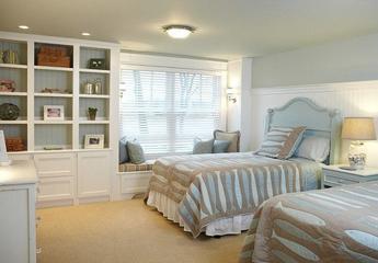 白色美式风四居室欣赏卧室飘窗