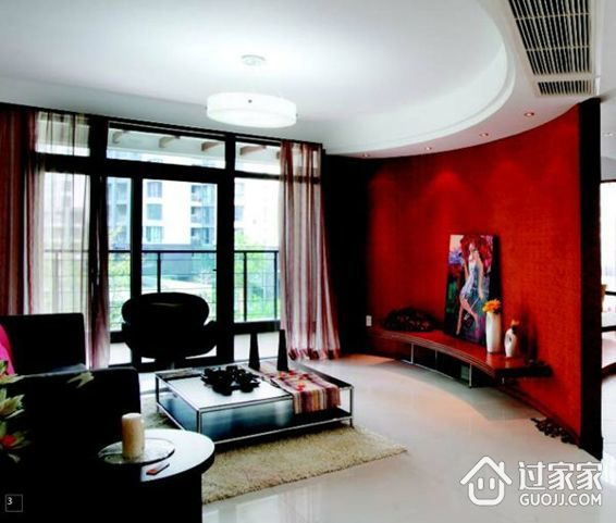 86平米三室两厅优雅装修 享受心境如水窗纱轻舞阳光浪漫的生活