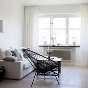 59平白色一居小户型欣赏客厅