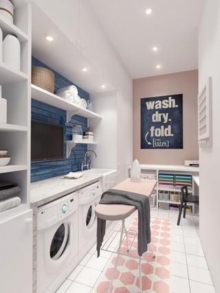 现代精致住宅洗衣间