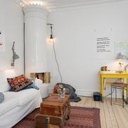 36平白色宜家住宅欣赏客厅