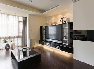 90平白色现代三居室