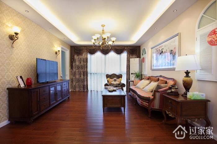 美式风三居室雅居欣赏客厅电视柜