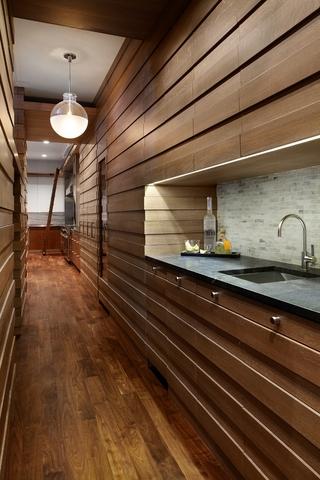现代风格别墅装饰设计套图厨房过道