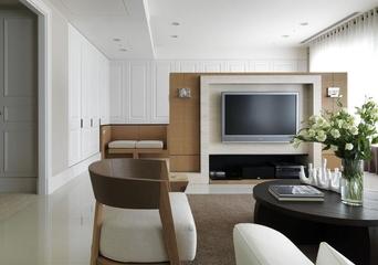 现代简约室内装修套图电视墙