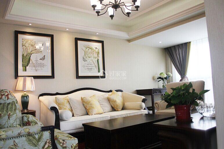 房屋面积:115平米    装修风格:美式    【客厅】先看看客厅的
