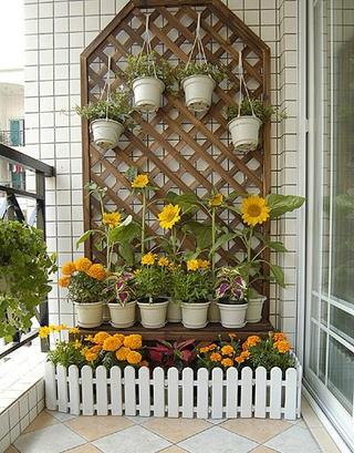 88平简约两居室效果图欣赏阳台