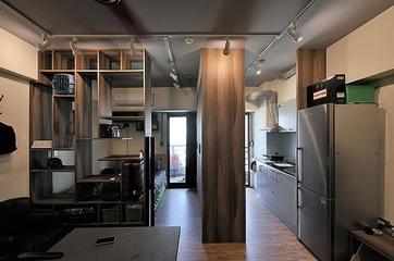 35平现代工业风一居欣赏餐厅效果