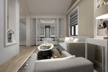 整洁新中式住宅欣赏客厅吊顶