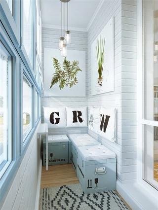 北欧一室一厅住宅欣赏阳台设计