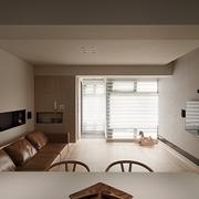 简约白色木艺效果图欣赏客厅陈设
