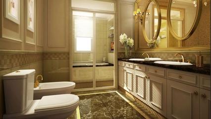 欧式奢华三居室欣赏卫生间室内门
