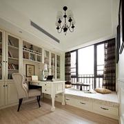 卧室书柜装修效果图 清新美式田园家居