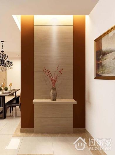 简约舒适效果图住宅案例欣赏玄关背景墙