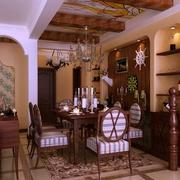 美式乡村案例欣赏客厅背景墙