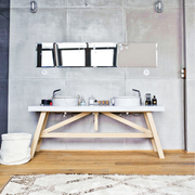 不拘泥现在的复古混搭欣赏洗手间